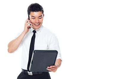 写字板,男商人,男性美,看,背景分离,仅男人,肖像,25岁到29岁,仅一个男人,东亚人