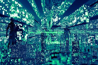 大数据,城市,技术,云计算,计算机电缆,网络安全防护,建筑,安防系统,使用电脑,互联网