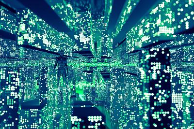 大数据,城市,网络服务器,计算机电缆,建筑业,云计算,技术,计算机,女人,建筑