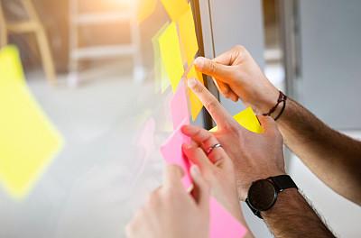 想法,商务,便签,成年的,仅成年人,青年人,手,专业人员,商务人士