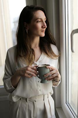 幸福,咖啡,女人,舒服,土耳其,咖啡杯,杯,肖像,户外,仅女人