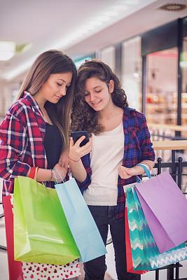 少女,购物中心,威斯敏斯特购物中心,自然美,拿着,顾客,儿童,原生数字,女孩,看