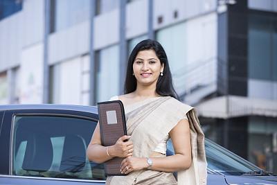 图像,股票,在活动中,汽车,肖像,现代,拿着,户外,印度,仅女人