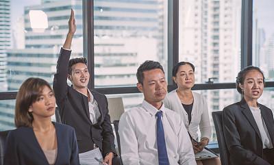 商务人士,人群,做计划,幸福,肖像,现代,协同工作,团队,工作
