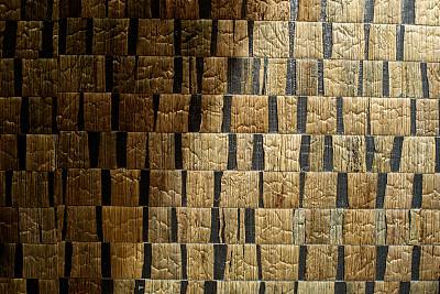 正方形,席子,式样,机织织物,平视角,纺织品,泰国,复古风格,草席,背景