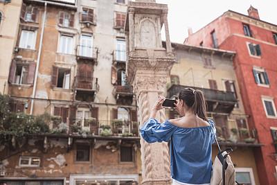 青年女人,意大利,成年的,仅成年人,青年人,旅行者,人,女性,女人,仅女人