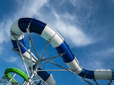 水滑道,湿,儿童,童年,休闲活动,夏天,欢乐,进行中,乐趣,嬉戏的