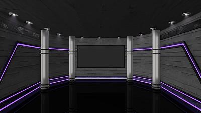 影棚拍摄,电视演播室,网络空间,舞台,色键,完美,数字化显示,传媒,运动,新闻解说