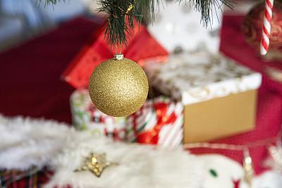 华丽的,圣诞装饰物,澳大利亚,节日,圣诞树,圣诞长袜,礼物,圣诞礼物,悬挂的