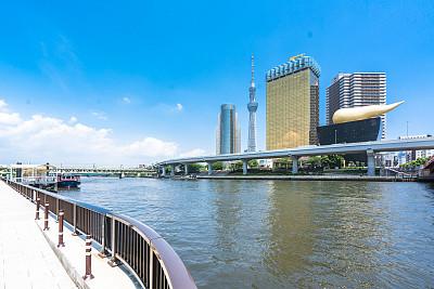 建筑外部,都市风景,东京,天空树,旅途,公园,现代,河流,东京天空树,户外