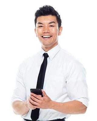 男商人,男性美,注视镜头,智能手机,拿着,成年的,仅成年人,青年人,专业人员