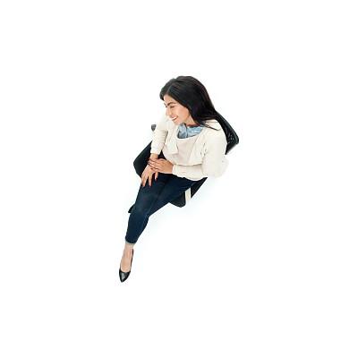 椅子,女商人,高视角,办公椅,商务,专业人员,背景分离,一个人,女性特质,女人