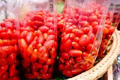 西红柿,背景,市场,农业,纹理效果,泰国,熟的,色彩鲜艳,小的,凌乱