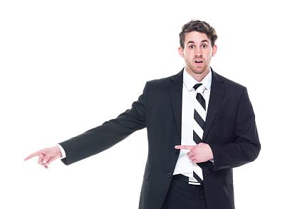 注视镜头,男商人,套装,侧面视角,黑色,衣服,商务,经理,专业人员