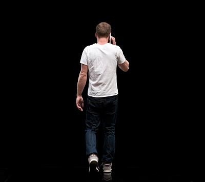 男人,男性美,在活动中,无法辨认的人,仅男人,一个人,背面视角,25岁到29岁,仅一个男人,粗斜纹棉布