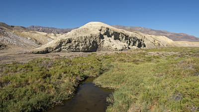 小溪,盐,加利福尼亚,沙漠,河流,户外,美国西南部,晴朗,山谷