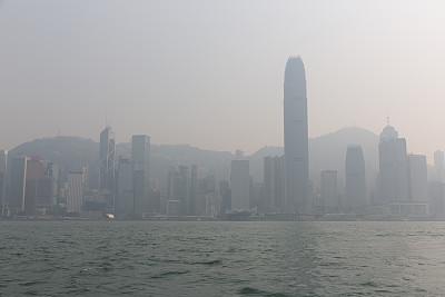 维多利亚港,户外,高大的,国际著名景点,危险,环境,环境损害,全球变暖,烟雾