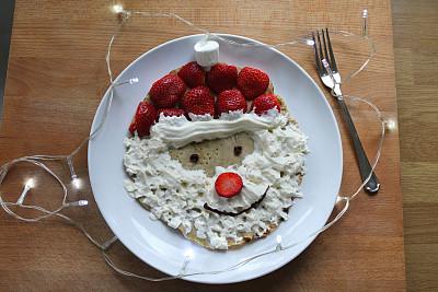人的鼻子,络腮胡子,红色,图像,草莓,食品,早餐,巧克力糖衣,法国薄饼