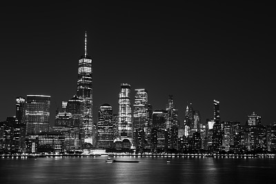 曼哈顿,夜晚,泽西城,国际著名景点,商务,纽约,黄昏,现代,著名景点,商业金融和工业
