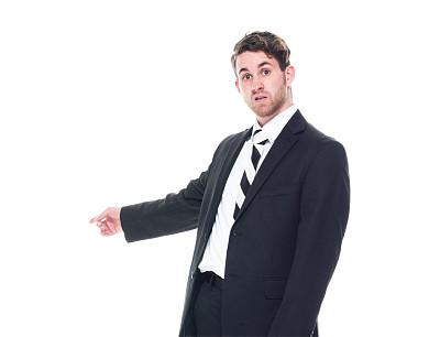 注视镜头,男商人,套装,衣服,黑色,后背,商务,经理,专业人员