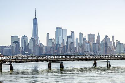 城市天际线,曼哈顿,摄像机拍摄角度,国际著名景点,商务,泽西城,纽约,新泽西,著名景点
