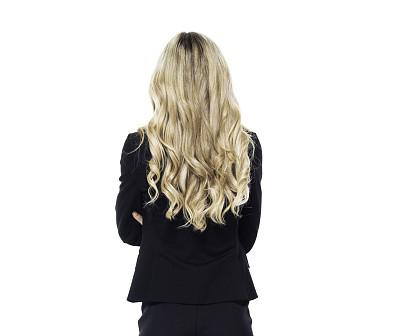 女商人,双臂交叉,金色头发,商务,专业人员,背景分离,无法辨认的人,一个人,背面视角