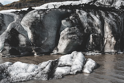 冰河,雪,史卡法特,瓦特纳冰原,肮脏的,著名景点,自然美,春天,湖,冰川泻湖
