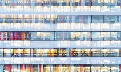 建筑外部,蓝色,金融,关闭的,钟面,商务,曙暮光,云,顶部,黄昏