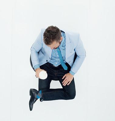 经理,一个人,仅一个男人,椅子,30到39岁,全身像,人,商务人士,男商人,男性