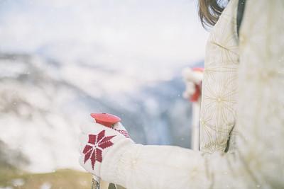 山,雪,女人,冬天,旅途,运动,极限运动,云,户外,高处