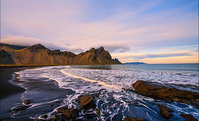 冰岛国,海滩,云,著名景点,自然美,海岸线,岩石,户外,天空,沙子
