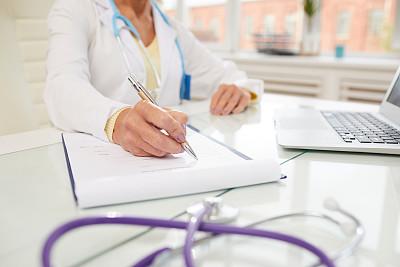 文档,女性,特写,餐桌,抽象,病人,忠告,写,充满