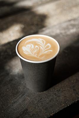 咖啡杯,泡沫艺术,特写,自然美,咖啡店,饮料,一次性物品,热,清新,热饮