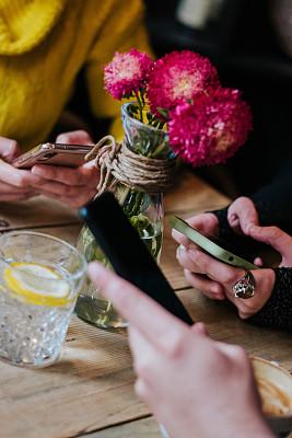 手机,智慧,人群,友谊,商务,计算机,社会化网络,技术,加拿大,女人