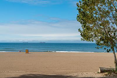 加拿大,安大略省,圣马洛,落日海滩,公园,船,多伦多,游艇,云,步行道路