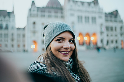 布达佩斯,自拍,女人,匈牙利,交通,肖像,技术,户外,仅女人,仅一个女人