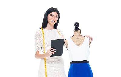 时尚造型师,高个子,创作行业,半身像,业主,女商人,女性,工匠,成年的,长发