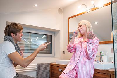 浴室,青年伴侣,时间,享乐