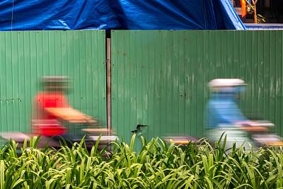 越南,长时间曝光,摩托车,乘客,白昼,城市生活,汽车,交通,迅速,交通堵塞