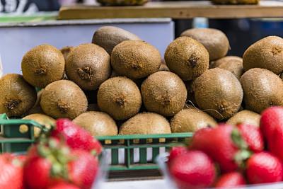 货摊,猕猴桃,农业,熟的,甜点心,李子,户外,有机食品,自然,白昼