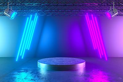 空的,照明设备,隧道,背景,霓虹灯,激光,抽象,条纹,站,发光