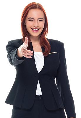 一个人,青年女人,20到29岁,半身像,幸福,商务人士,女商人,套装,女性,成年的