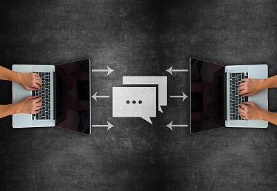概念,全球通讯,黑板,电子邮件,技术,通讯职位,商业金融和工业,拿着,想法,消息