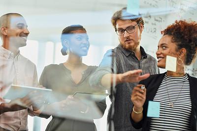 商务,羊毛帽,努力,部分,策略,商务策略,创作行业,办公室,在下面,脑风暴