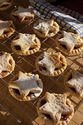 碎馅派,食品,传统节日,蛋糕,甜点心,自制的,想法,乡村风格,圆形