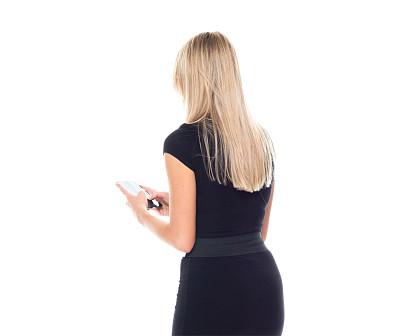 拿着,半身像,商务人士,女商人,女性,成年的,长发,发短信,正装,一个人