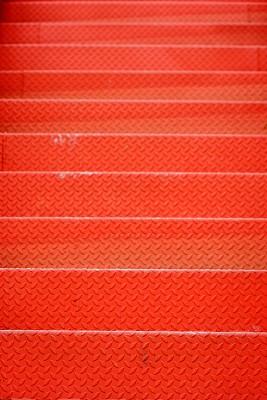 红色,金属,工厂,楼梯,在之后,云,泰国,钢铁,建筑特色,户外