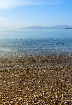 海景,海滩,土耳其,纯净,云景,热带气候,云,水面,晴朗,黄色