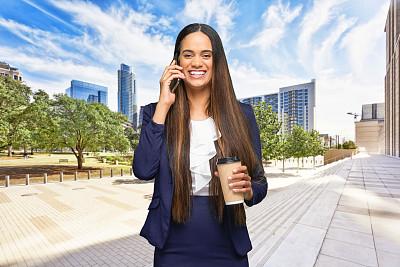 咖啡杯,肖像,拿着,户外,注视镜头,非洲人,半身像,商务人士,女商人,女性