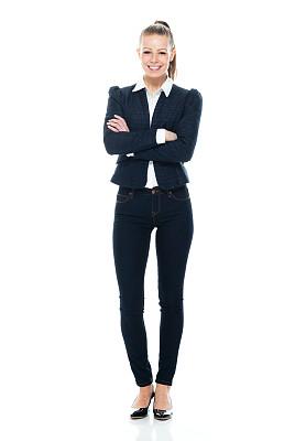 全身像,注视镜头,商务人士,女商人,女性,高跟鞋,成年的,手并排,一个人,青年女人